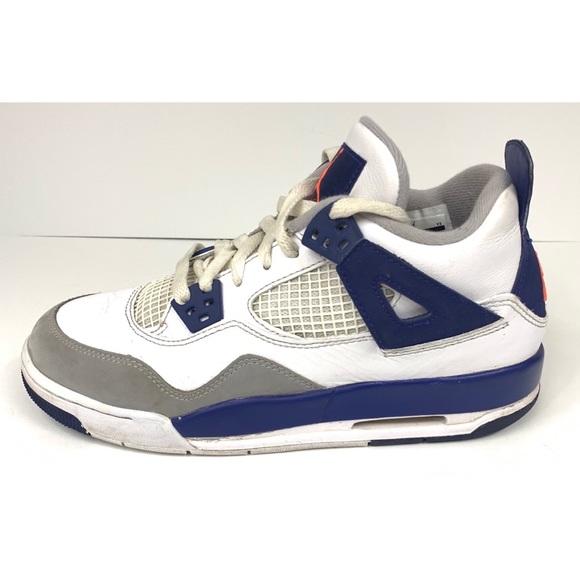 check out 195b0 0a2bb Boys Air Jordan Retro 4 Knicks Flight Size 5.5Y